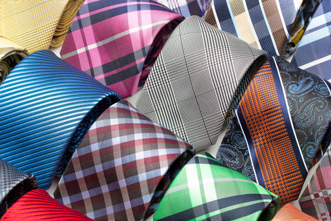 A close-up of our 10-pack of missionary ties