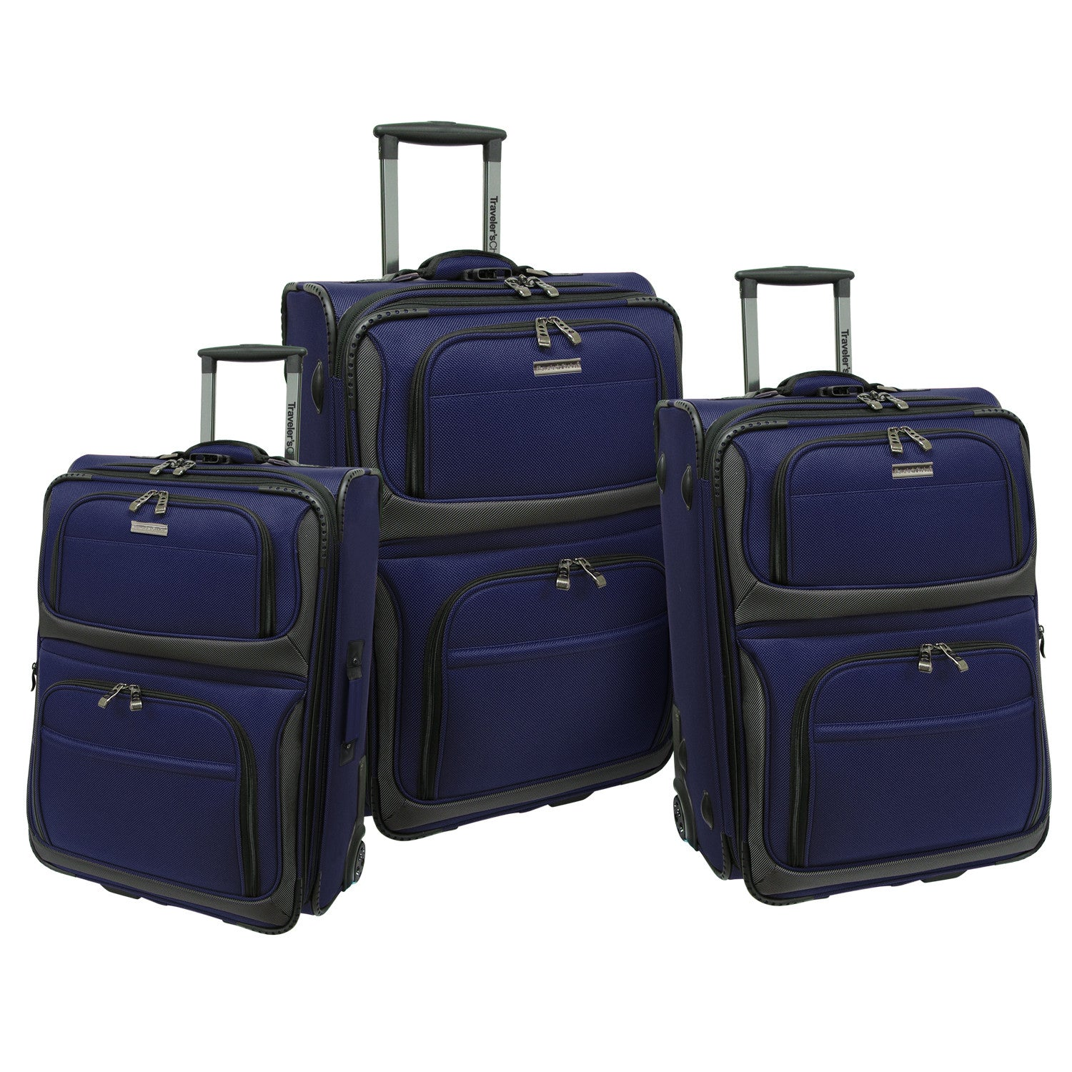 Traveler's Choice Conventional II 3 Piece Luggage Set - Kater Shop