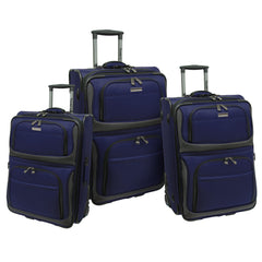 Traveler's Choice Conventional II 3 Piece Luggage Set