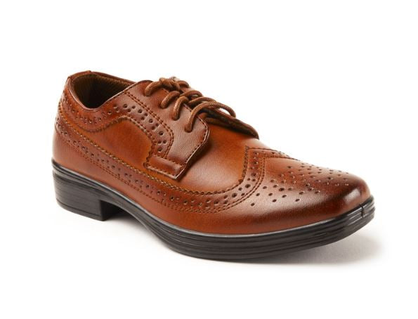Ace Deer Stag Boy Dress Shoe Luggage Tan - Kater Shop