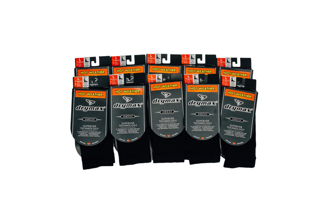 Drymax Moisture Wicking Dress Sock by CTR Clothing 10 PACK