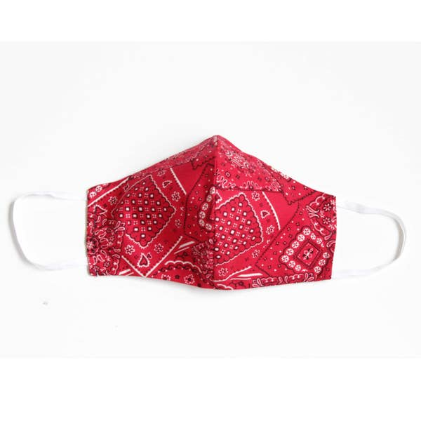 Face Mask with Filter - Bandana - RED