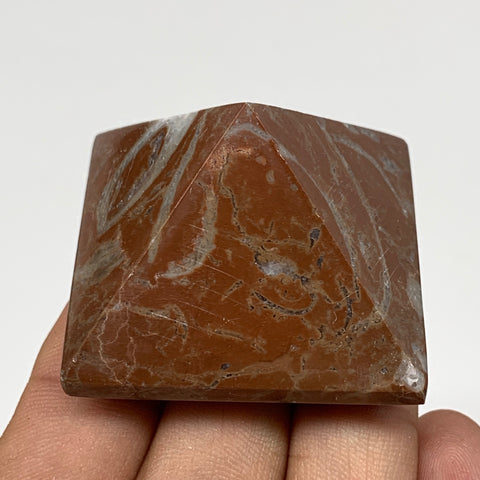"60.5g,1.2""x1.6"" Natural Untreated Red Shell Fossils Pyramid Reiki Energy, F1189"