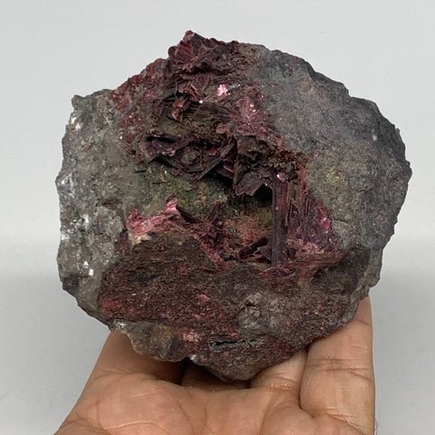 "470.9g, 2.9""x2.9""x2.5"", Erythrite Rough Mineral Specimens @Morocco, B11123"