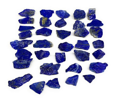 "136g, 35pcs, 0.7""-1.3"", Small Tiny Chips Rough Lapis Lazuli @Afghanistan, B11982"