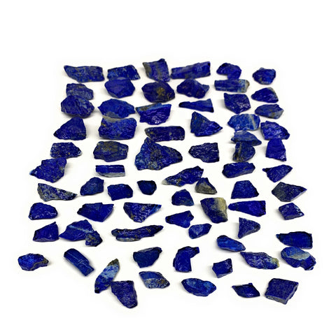 "131g, 72pcs, 0.3""-1.2"", Small Tiny Chips Rough Lapis Lazuli @Afghanistan,B11983"