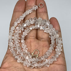 "5-10mm, 96 Bds, 23.6g, Natural Terminated Diamond Quartz Beads Strand 16"",DQ638"