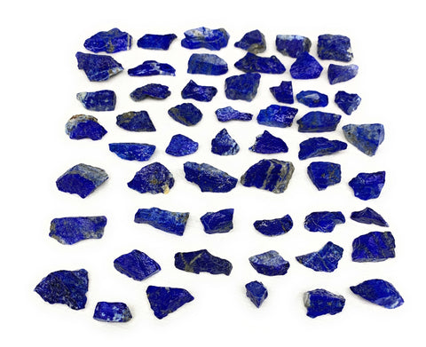 "137.8g, 54pcs, 0.3""-1.2"", Small Tiny Chips Rough Lapis Lazuli @Afghanistan,B1198"