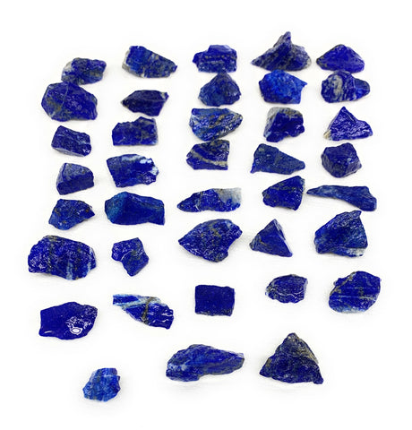 "138.4g,38pcs,0.4""-1.2"", Small Tiny Chips Rough Lapis Lazuli @Afghanistan,B11988"