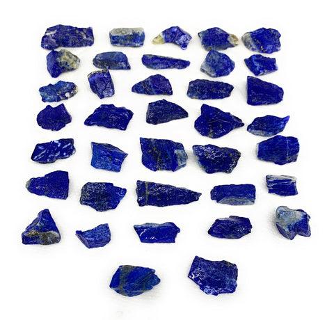 "132.5g,37pcs,0.6""-1.3"", Small Tiny Chips Rough Lapis Lazuli @Afghanistan,B11990"