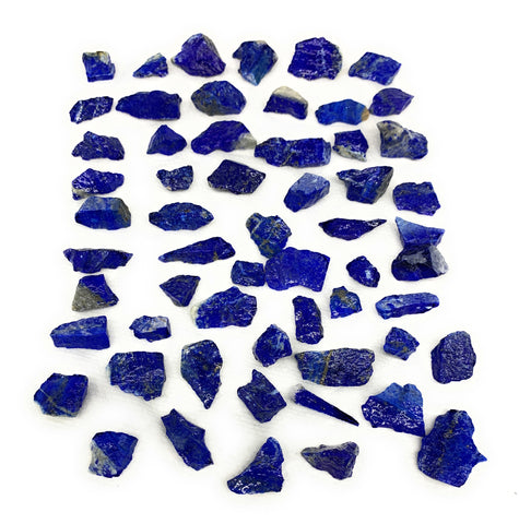 "136.2g,58pcs,0.4""-1.3"", Small Tiny Chips Rough Lapis Lazuli @Afghanistan,B11992"