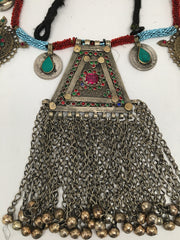 362 Grams Afghan Kuchi Jingle Coins Chain Bells Boho ATS Pendants Necklace,KC129 - watangem.com