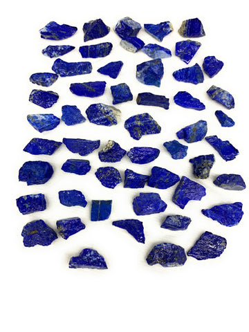 "160.3g,54pcs,0.6""-1.3"", Small Tiny Chips Rough Lapis Lazuli @Afghanistan,B11993"