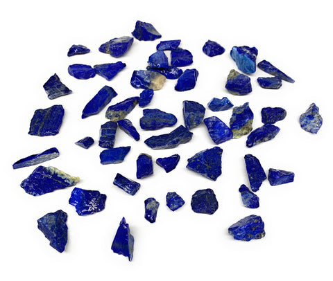 "139g,50pcs,0.4""-1.2"", Small Tiny Chips Rough Lapis Lazuli @Afghanistan,B11995"