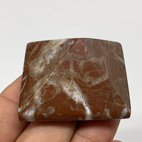"52.7g,1""x1.6"" Natural Untreated Red Shell Fossils Pyramid Reiki Energy, F1215"
