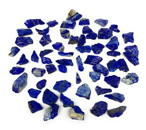 "138.5g,59pcs,0.5""-1.2"", Small Tiny Chips Rough Lapis Lazuli @Afghanistan,B11996"