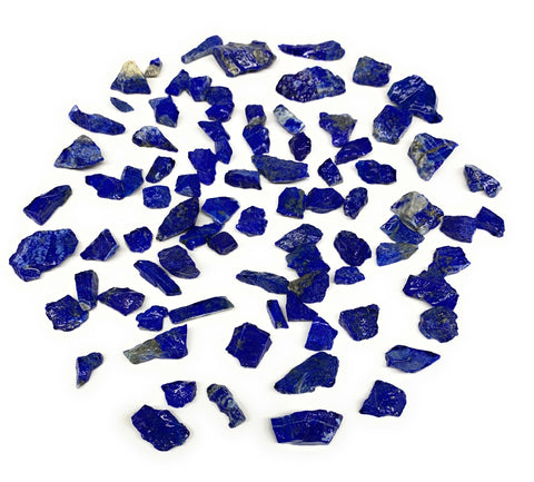 "139.7g,86pcs,0.3""-1.3"", Small Tiny Chips Rough Lapis Lazuli @Afghanistan,B11997"