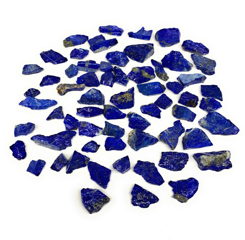 "139.8g,64pcs,0.4""-1.3"", Small Tiny Chips Rough Lapis Lazuli @Afghanistan,B11998"