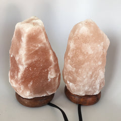 "2x Himalaya Natural Handcraft Rough Raw Crystal Salt Lamp, 8.25""-8.5"" Tall,HL06 - watangem.com"