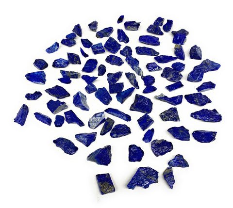 "141.5g,80pcs,0.4""-1.2"", Small Tiny Chips Rough Lapis Lazuli @Afghanistan,B11999"