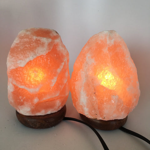 "2x Himalaya Natural Handcraft Rough Raw Crystal Salt Lamp, 6.5""-7"" Tall, HL12 - watangem.com"