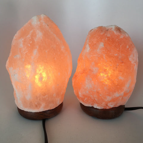 "2x Himalaya Natural Handcraft Rough Raw Crystal Salt Lamp, 7.5""-8.25"" Tall, HL13 - watangem.com"