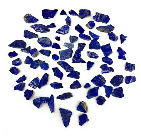 "123.1g,71pcs,0.3""-1.3"", Small Tiny Chips Rough Lapis Lazuli @Afghanistan,B12000"