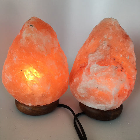 "2x Himalaya Natural Handcraft Rough Raw Crystal Salt Lamp, 7.75""-8.25"" Tall, HL1 - watangem.com"