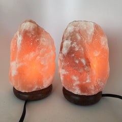 "2x Himalaya Natural Handcraft Rough Raw Crystal Salt Lamp, 7.25""-7.5""Tall, HL20 - watangem.com"