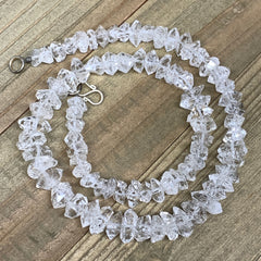 "7-13mm, 82 Bds, 35.7g, Natural Terminated Diamond Quartz Beads Strand 16"",DQ657"