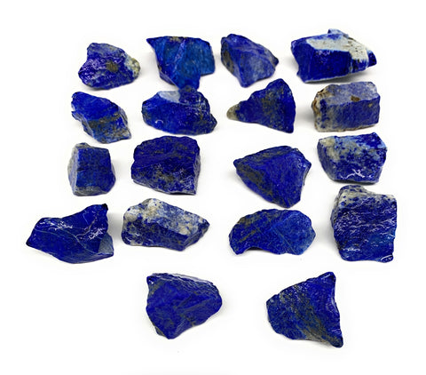 "155.6g,18pcs,0.6""-1.1"", Small Tiny Chips Rough Lapis Lazuli @Afghanistan,B12002"