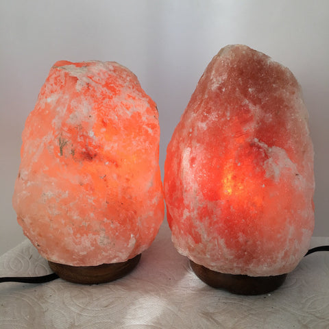 "2x Himalaya Natural Handcraft Rough Raw Crystal Salt Lamp, 7.25""-8"" Tall, XL97 - watangem.com"