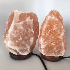 "2x Himalaya Natural Handcraft Rough Raw Crystal Salt Lamp,8""-8.25""Tall, HL29 - watangem.com"