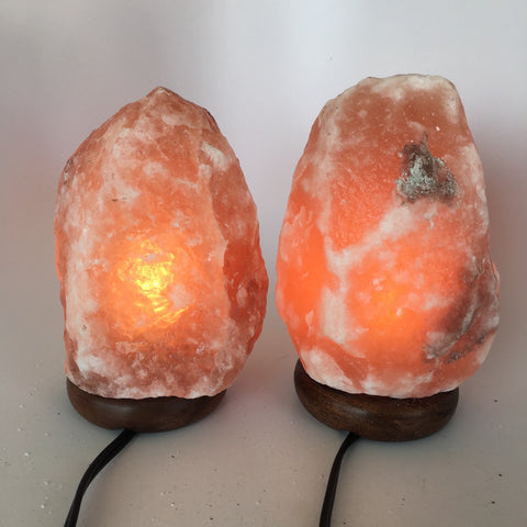 "2x Himalaya Natural Handcraft Rough Raw Crystal Salt Lamp,7.75""-8.25""Tall, HL30 - watangem.com"