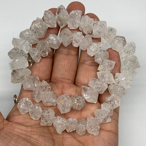 "11-18mm, 45 Bds, 90.5g, Natural Terminated Diamond Quartz Beads Strand 16"",DQ659"