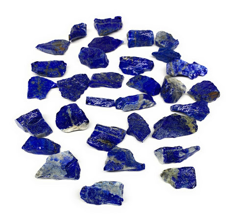 "137.2g,31pcs,0.8""-1.3"", Small Tiny Chips Rough Lapis Lazuli @Afghanistan,B12005"