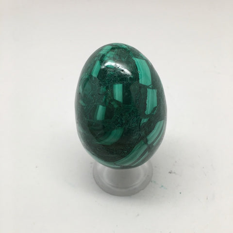 193.9 Grams Shiny Glassy Polished Green Natural Malachite Egg @Congo,D975