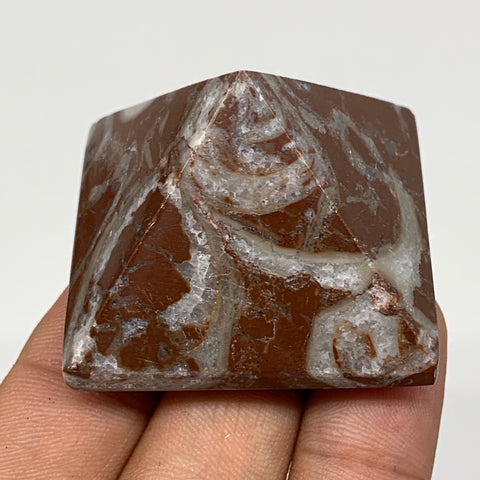 "55.8g,1.1""x1.6"" Natural Untreated Red Shell Fossils Pyramid Reiki Energy, F1229"
