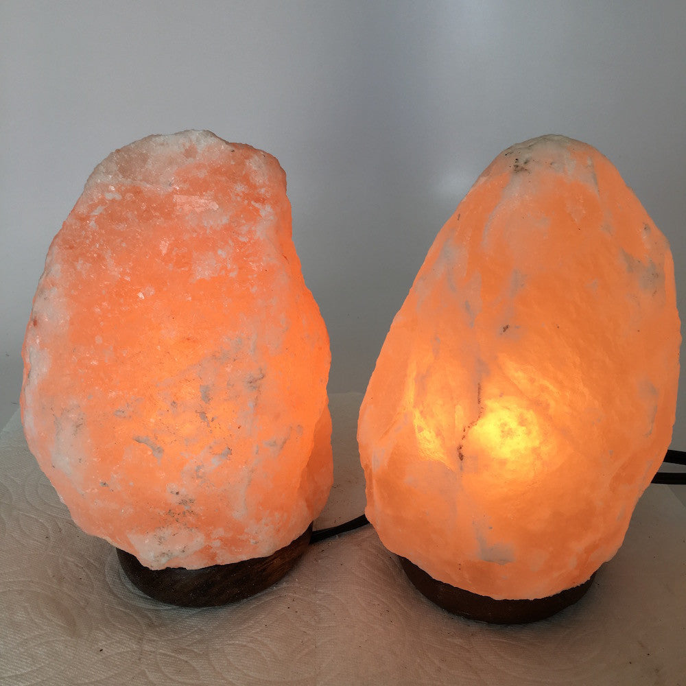 "2x Himalaya Natural Handcraft Rough Raw Crystal Salt Lamp, 7.5""-7.5"" Tall,XL119 - watangem.com"