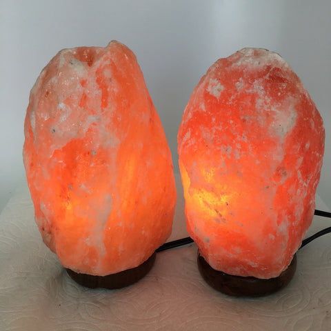 "2x Himalaya Natural Handcraft Rough Raw Crystal Salt Lamp, 7.75""-8.25"" Tall,XL12 - watangem.com"