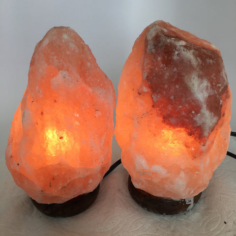 "2x Himalaya Natural Handcraft Rough Raw Crystal Salt Lamp, 7.75""-8"" Tall,XL132 - watangem.com"