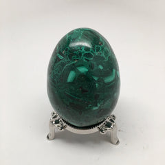 335.8 Grams Shiny Glassy Polished Green Natural Malachite Egg @Congo,D982