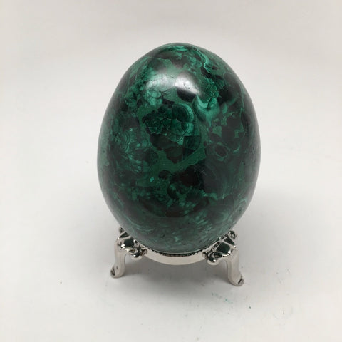 532 Grams Shiny Glassy Polished Green Natural Malachite Egg @Congo,D983 - watangem.com