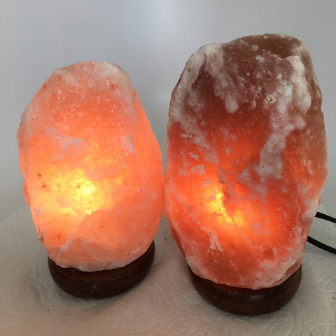 "2x Himalaya Natural Handcraft Rough Raw Crystal Salt Lamp, 7.5""-8.25"" Tall,XL141 - watangem.com"