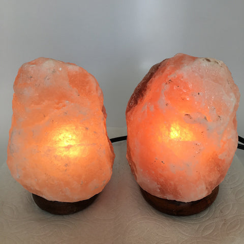 "2x Himalaya Natural Handcraft Rough Raw Crystal Salt Lamp, 7""-7.25"" Tall,XL147 - watangem.com"