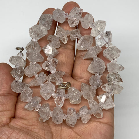 "12-19mm, 40 Bds, 78.3g, Natural Terminated Diamond Quartz Beads Strand 16"",DQ668"