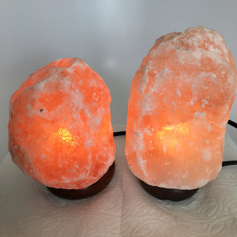 "2x Himalaya Natural Handcraft Rough Raw Crystal Salt Lamp, 6.5""-8"" Tall,XL149 - watangem.com"