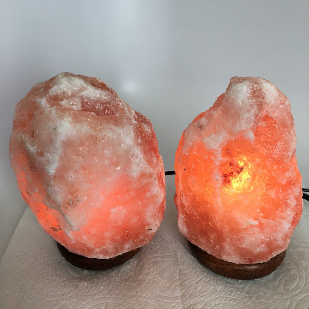 "2x Himalaya Natural Handcraft Rough Raw Crystal Salt Lamp, 7.5""-7.75"" Tall,XL157 - watangem.com"