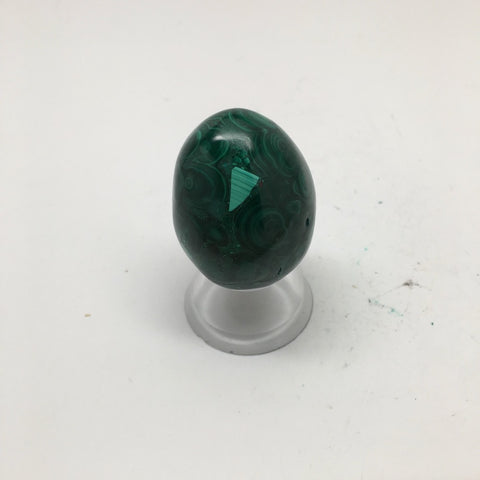 78.9 Grams Shiny Glassy Polished Green Natural Malachite Egg @Congo,D994 - watangem.com
