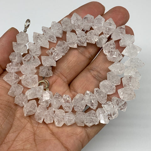 "9-13mm, 56 Bds, 62g, Natural Terminated Diamond Quartz Beads Strand 16"",DQ675"